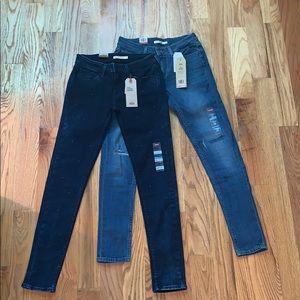 2 Pairs Levi's 535 Super Skinny Jeans Sz 8 29 x 30